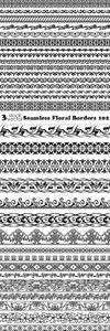 Vectors - Seamless Floral Borders 102