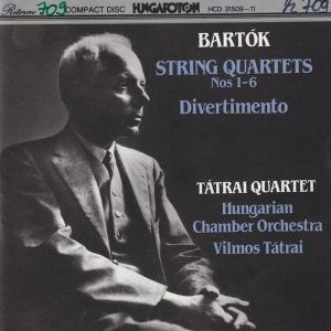 Bela Bartok & Tatrai Quartet - String Quartets Nos 1-6 Divertimento (1992)