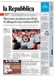 la Repubblica - 10 Febbraio 2018