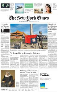 International New York Times - 4-5 July 2020