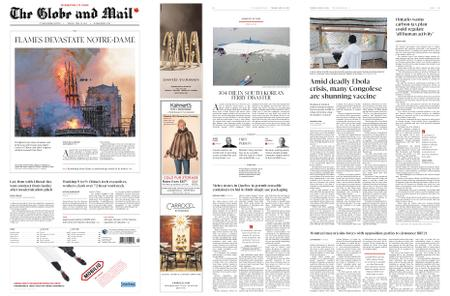 The Globe and Mail – April 16, 2019