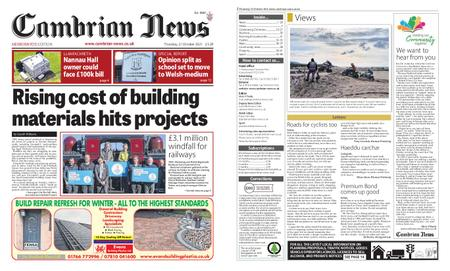 Cambrian News Meirionnydd – 22 October 2021