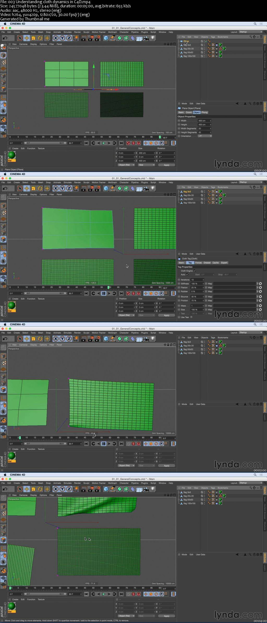 Cloth Simulations for Motion Graphics in CINEMA 4D / AvaxHome