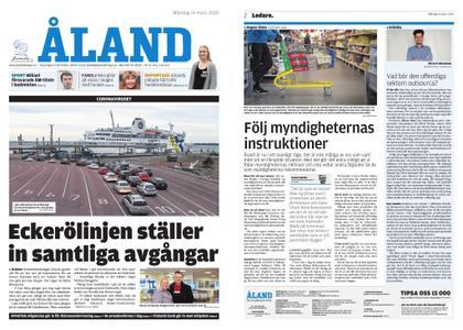 Ålandstidningen – 16 mars 2020