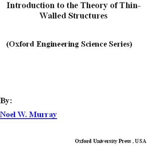 Introduction to the Theory of Thin-Walled Structures