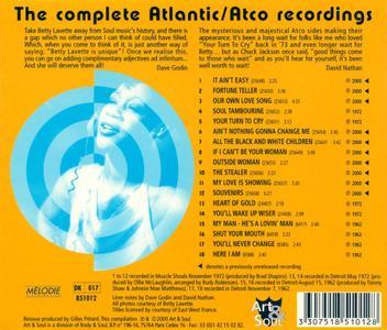 Betty Lavette - Souvenirs: The Complete Atlantic/Atco Recordings (2001)
