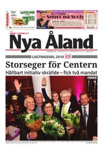 Nya Åland – 21 oktober 2019