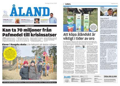 Ålandstidningen – 18 mars 2020
