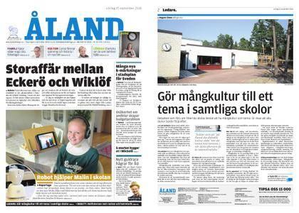 Ålandstidningen – 15 september 2018