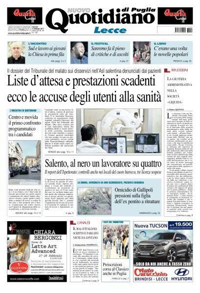 Quotidiano di Puglia Lecce - 9 Febbraio 2017