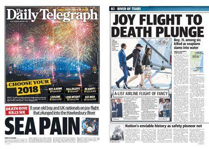 The Daily Telegraph (Sydney) – January 01, 2018