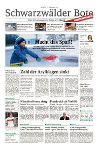 Schwarzwälder Bote St. Georgen, Triberg, Furtwangen - 17. Dezember 2018
