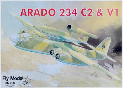Paper model Fly Nr.084 Arado 234 & V1 Flying bomb scale 1:33
