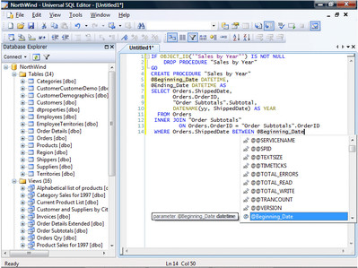 Universal SQL Editor 1.3.2.2