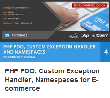 PHP PDO, Custom Exception Handler, Namespaces for E-commerce [repost]