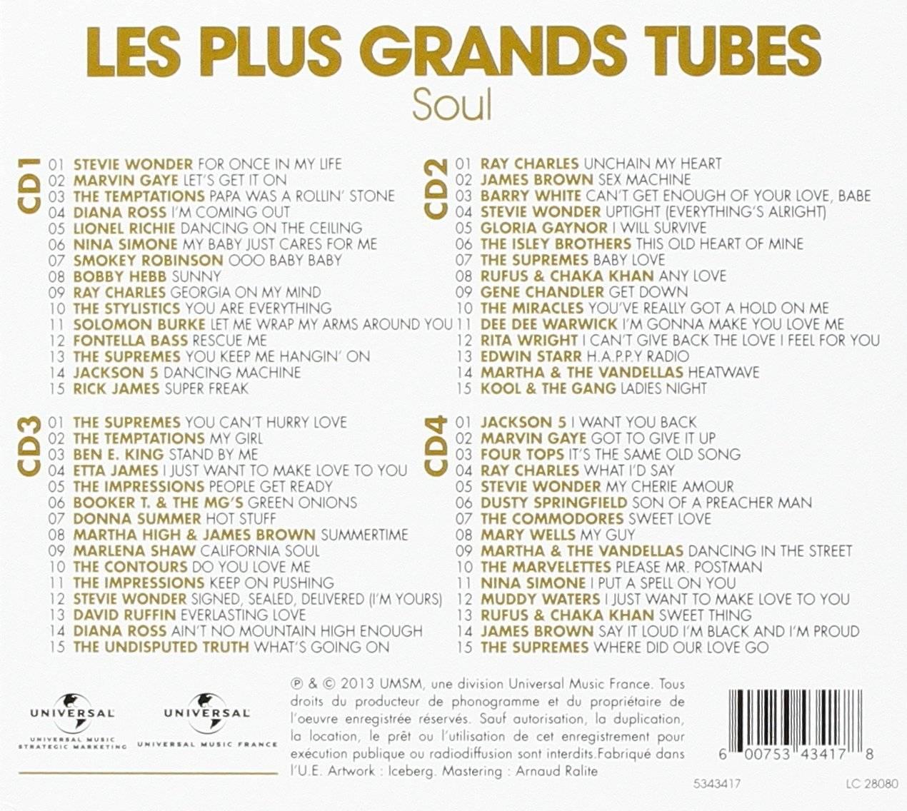 V.A. - Les Plus Grands Tubes Soul (4CD Box Set, 2013)