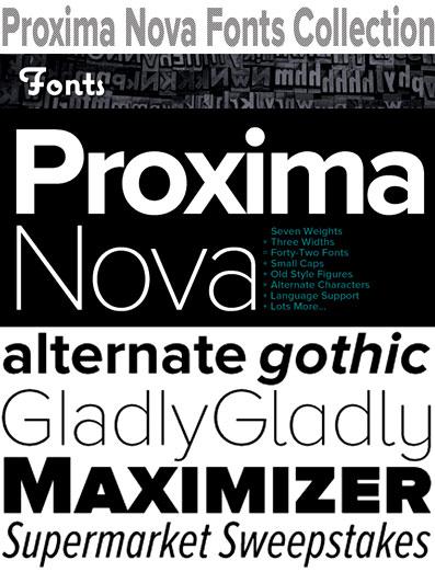 Proxima Nova Fonts Collection
