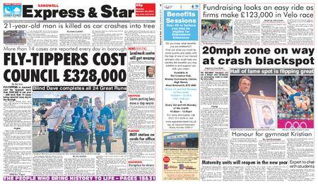 Express and Star Sandwell Edition – October 23, 2017