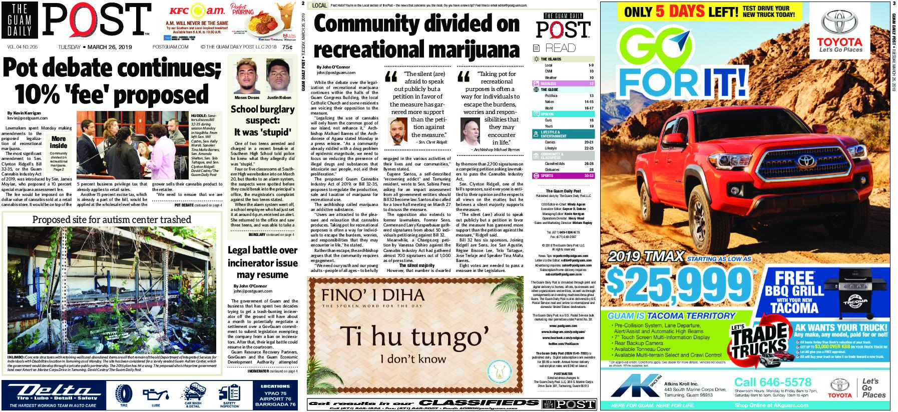 The Guam Daily Post – March 26, 2019