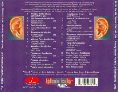 ultimate demonstration disc chesky records guide to critical listening