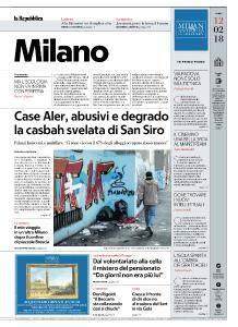 la Repubblica Milano - 12 Febbraio 2018