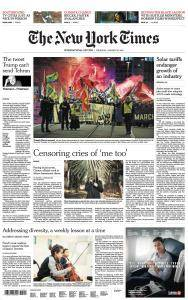 International New York Times - 25 January 2018