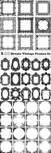 Vectors - Ornate Vintage Frames 81