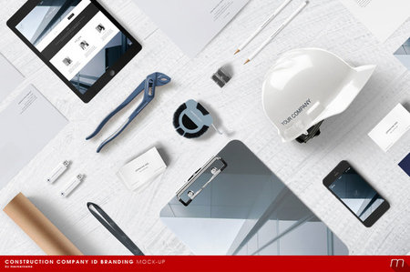 CreativeMarket - Construction Company Branding Mock-up
