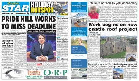 Shropshire Star Shrewsbury Edition – October 09, 2018