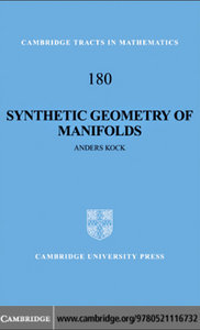 Synthetic Geometry of Manifolds (repost)