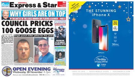 Express and Star Sandwell Edition – November 24, 2018