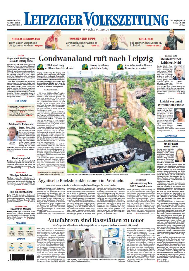 Leipziger Volkszeitung 01 07 2011