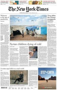 International New York Times - 28 February 2020