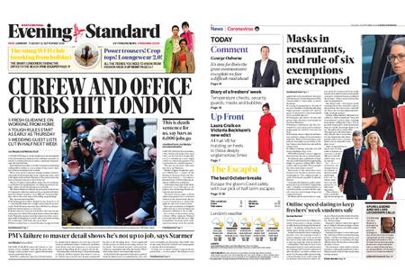 London Evening Standard – September 22, 2020