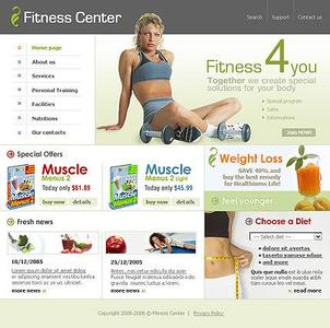WebTemplate TM8578 Fitness Centrum