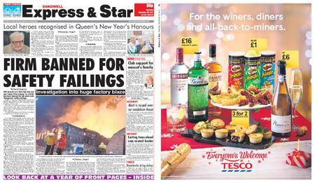Express and Star Sandwell Edition – December 30, 2017