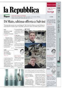la Repubblica - 16 Aprile 2018
