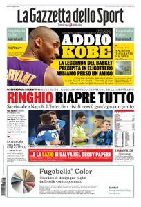 La Gazzetta dello Sport Roma – 27 gennaio 2020