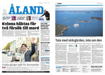 Ålandstidningen – 18 oktober 2019