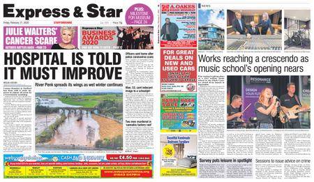 Express and Star Staffordshire Edition – February 21, 2020