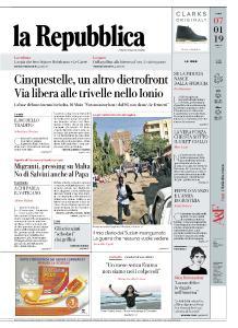 la Repubblica - 7 Gennaio 2019