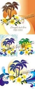 Summer Backgrounds Vector 4