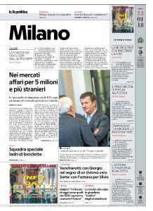 la Repubblica Milano - 13 Gennaio 2018