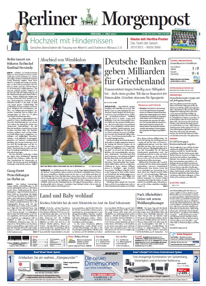 Berliner Morgenpost 01 07 2011