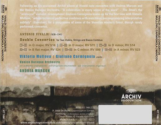 Antonio Vivaldi - Viktoria Mullova - Double Concertos (2008, Archiv Produktion # 477 7466) [RE-UP]