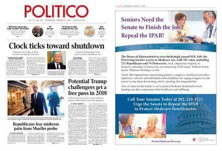 Politico – January 17, 2018
