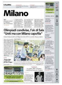 la Repubblica Milano - 31 Luglio 2018