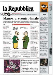 la Repubblica - 22 Dicembre 2018