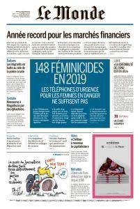 Le Monde du Mardi 31 Décembre 2019