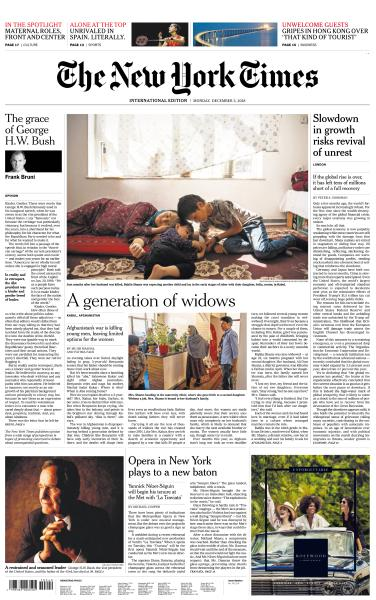 International New York Times - 3 December 2018